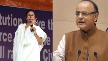 Arun Jaitley hit out at Mamata Banerjee in a Facebook blog post.