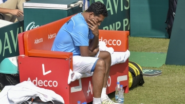 India's Davis Cup non-playing captain Mahesh Bhupathi during the tie against Italy that India lost 3-1.