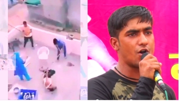 Mahesh Kumar was on the bike with friend Rajkumar when the alleged argument over a cricket game turned into a brutal mob attack.