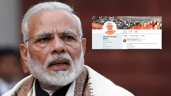 PM Narendra Modi along with other leaders changed his Twitter name to 'Chowkidar Narendra Modi'.