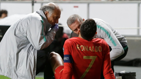 Team doctors said Ronaldo will undergo tests, but the star forward was not too concerned.