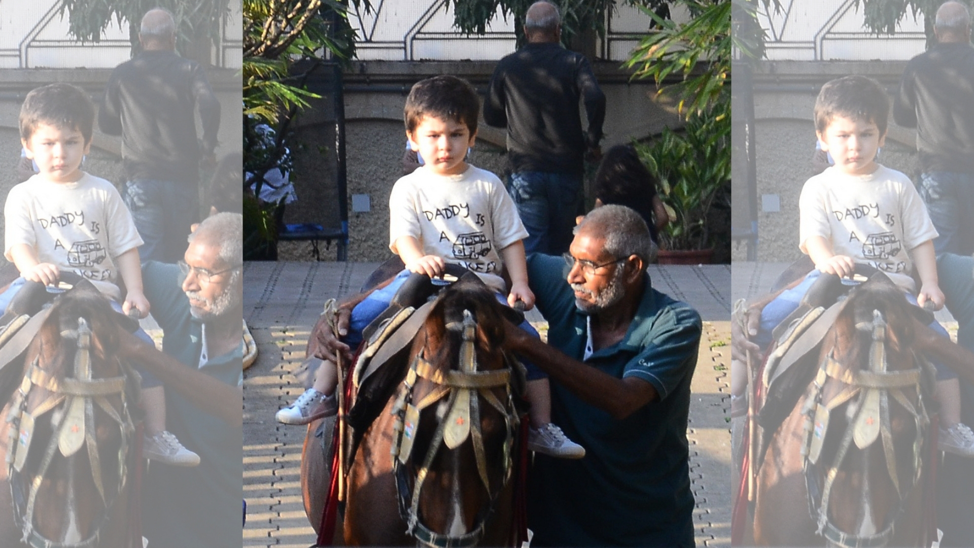 Pics: Taimur Ali Khan Spends His Sunday Horse Riding in the City