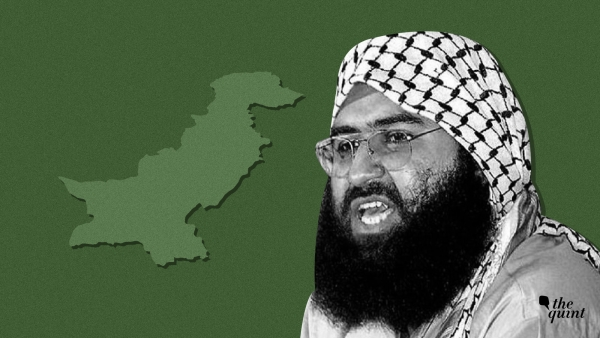 Image of JeM chief Masood Azhar and map of Pakistan, used for representational purposes.