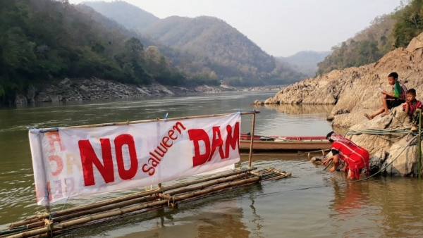 -Local communities continue to protest against Chinese-backed projects on the Mekong.