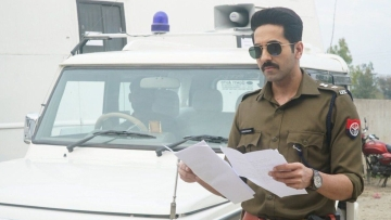 Ayushmann Khurrana as a cop in <i>Article 15.</i>