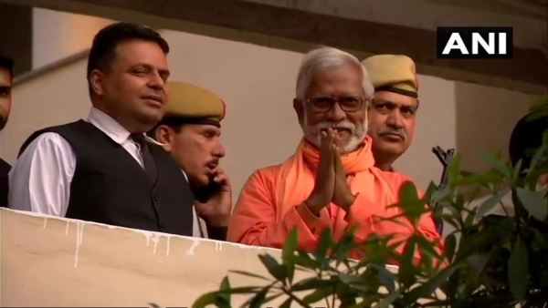 Visuals of Aseemanand from the Panchkula court. He and three others were acquitted in the Samjhauta Express blast case.