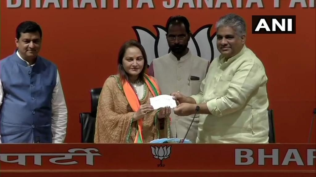 Actor Jaya Prada Joins BJP – The 5th Party of Her Career