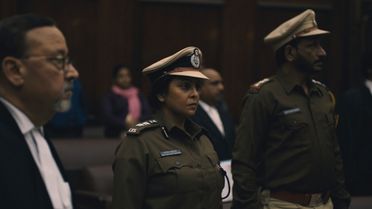 Shefali Shah in a still from <i>Delhi Crime</i>.