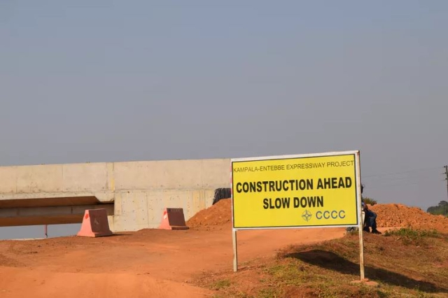 Under construction: the Chinese-funded Entebbe-Kampala Expressway.