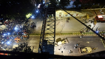 A foot overbridge near the Chhatrapati Shivaji Maharaj Terminus (CSMT) railway station in Mumbai collapsed on Thursday, 14 March.