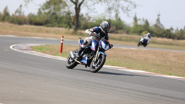 The race-spec TVS Apache RTR 200 was the primary bike for the trainees.