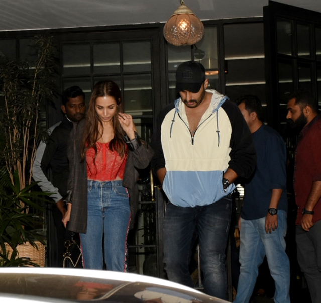Malaika Arora and Arjun Kapoor spotted at Soho House in Juhu.