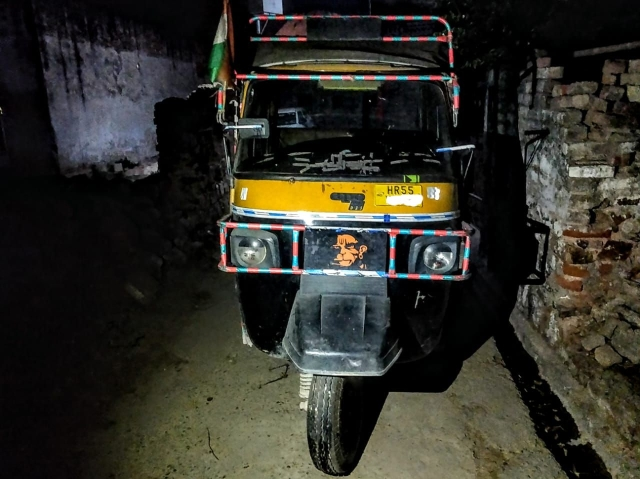 The auto-rickshaw that Mahesh had been running for only a few months as wage daily-wage labour wasn't enough to feed his mother, two kids and wife.