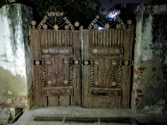 The gate to Mahesh Kumar's home. The streets of Naya Gaon village wear a deserted look as the police has been regularly taking rounds to nab all the accused.