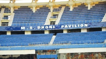 The South Stand at the stadium has been renamed as the MS Dhoni Pavilion.