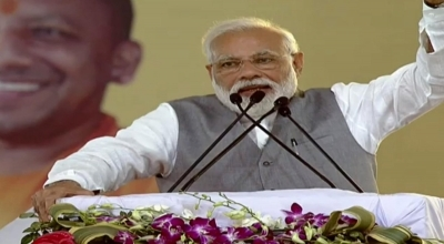 Modi opens metro's Red Line stretch to Ghaziabad