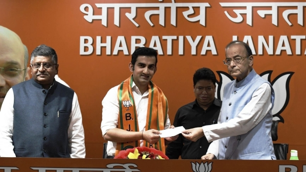 Gautam Gambhir joined the BJP on Friday, 22 March 2019.
