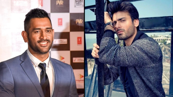 MS Dhoni (left) and Fawad Khan (right).