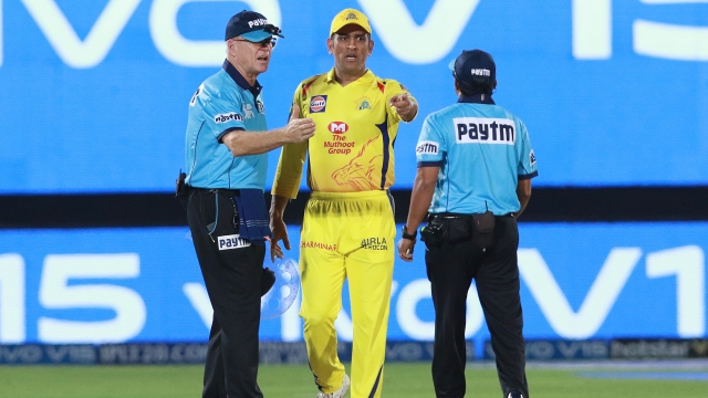 MS Dhoni was charged for Code of Conduct breach and fined 50% of his match fee.