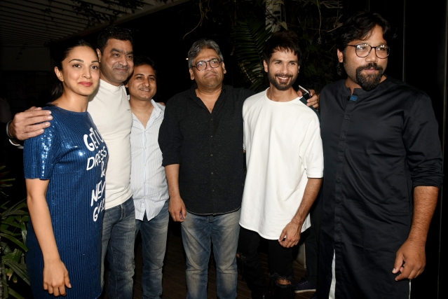 Shahid Kapoor, Kiara Advani, and the team of <i>Kabir Singh.</i>