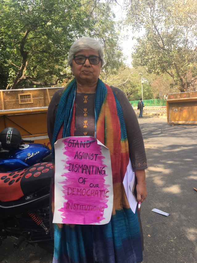 Shabhnam Hashmi, social activist, one of the organisers of the march