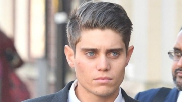Alex Hepburn has been found guilty in England of raping a sleeping woman.