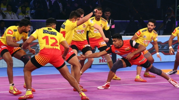 File picture of players during the Pro Kabaddi league. The 2019 season will start on 19 July
