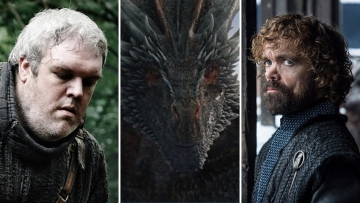 (L-R) Hodor, Drogon and Tyrion have a message for you, according to the PIB.