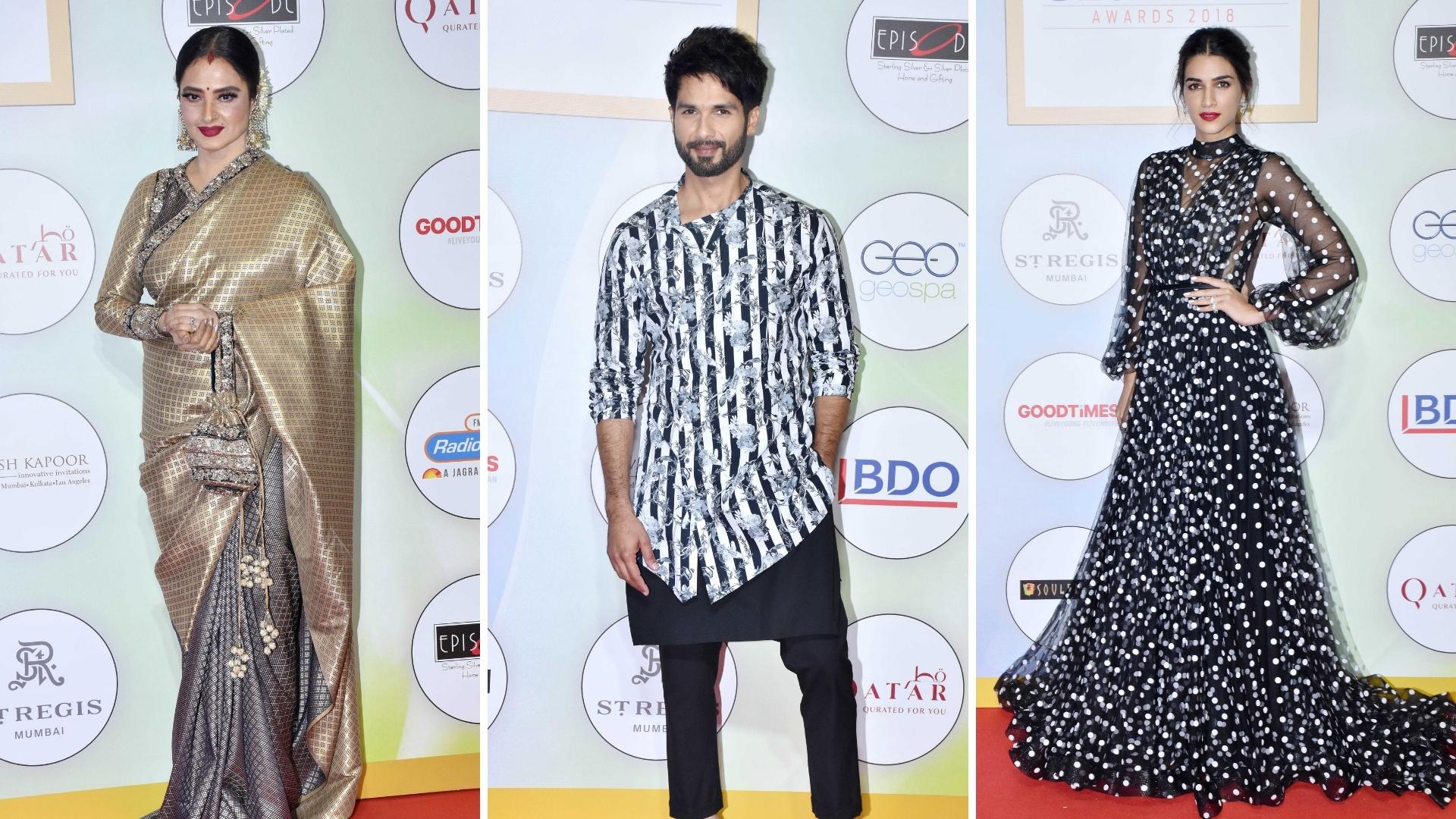In Pics: Kriti Sanon, Rekha, Shahid's Sizzling Red Carpet Looks