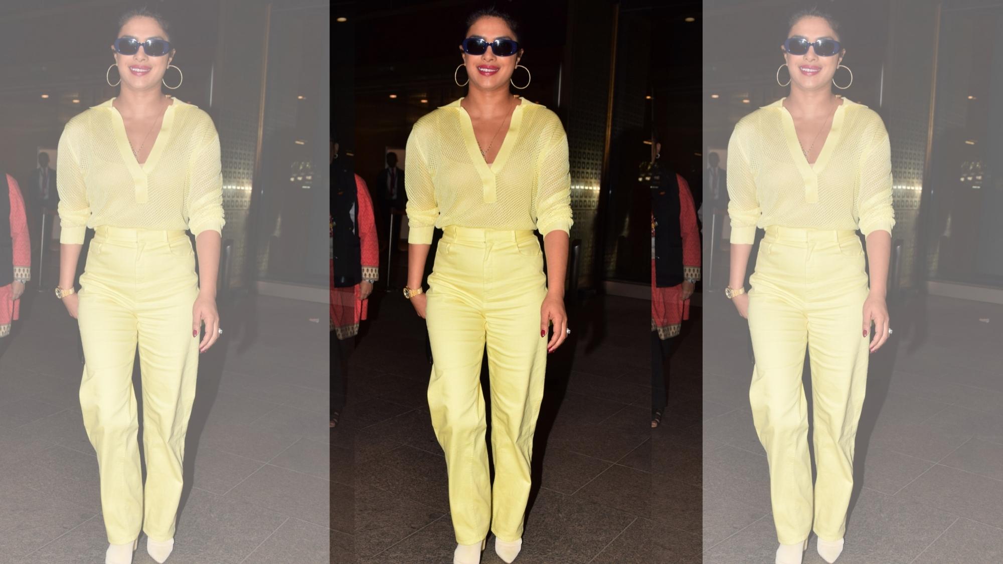 Priyanka Chopra Arrives in Mumbai for Brother Siddharth's Wedding
