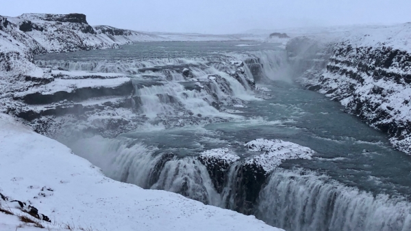 The Gullfoss Waterfall is absolutely breathtaking.