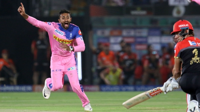 Shreyas Gopal accounted for three wickets, including that of Virat Kohli (23) and AB de Villiers (13), conceding just 12 runs in his four-quota over to unsettle RCB.