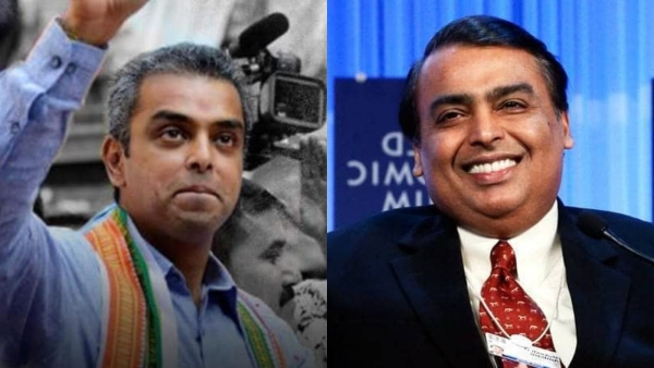 Image of Milind Deora (L) and Mukesh Ambani (R) used for representation.