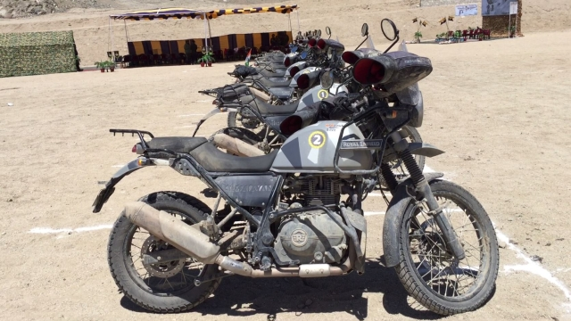 The Himalayan's used were specially modified for this expedition.