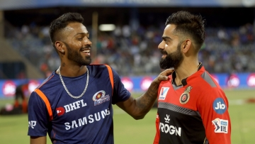 Hardik Pandya's 16-ball 37 helps Mumbai Indians beat Royal Challengers Bangalore by 5 wickets.