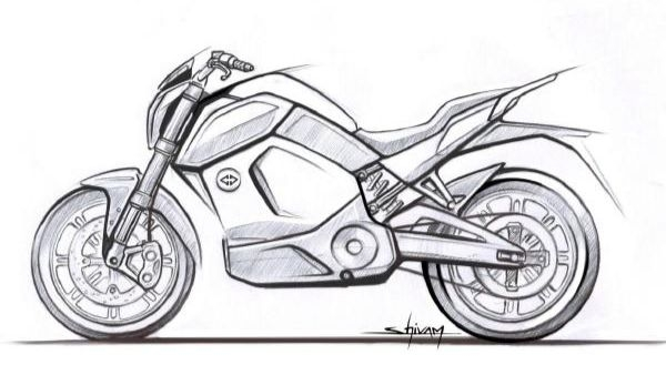 Revolt Motors' Electric Motorcycle Spied, Official Sketches Out