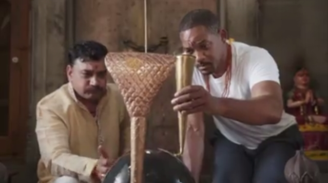 Will Smith performs religious rituals in Haridwar.