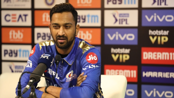 Krunal Pandya at post-match press conference after win over Delhi Capitals.