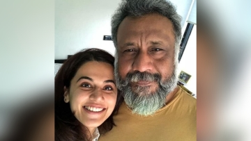 Taapsee Pannu with director Anubhav Sinha.