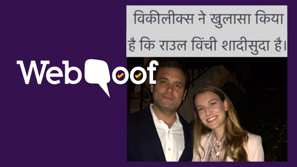 Viral posts claim that Rahul Gandhi is married to a Colombian woman and has two children living in London.