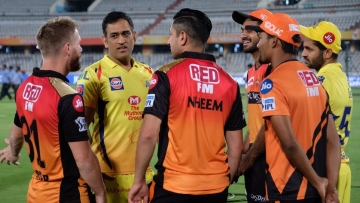 Dhoni was seen spending time with David Warner, Vijay Shankar and Sandeep Sharma after the match.D