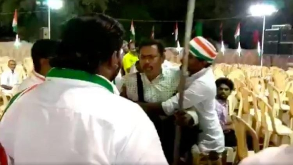 A photojournalist was allegedly roughed up at a Congress event in Tamil Nadu's Virudhunagar on Saturday.