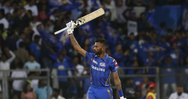 Hardik Pandya turned the game on its head, smashing five boundaries and two sixes during his unconquered 16-ball 37.
