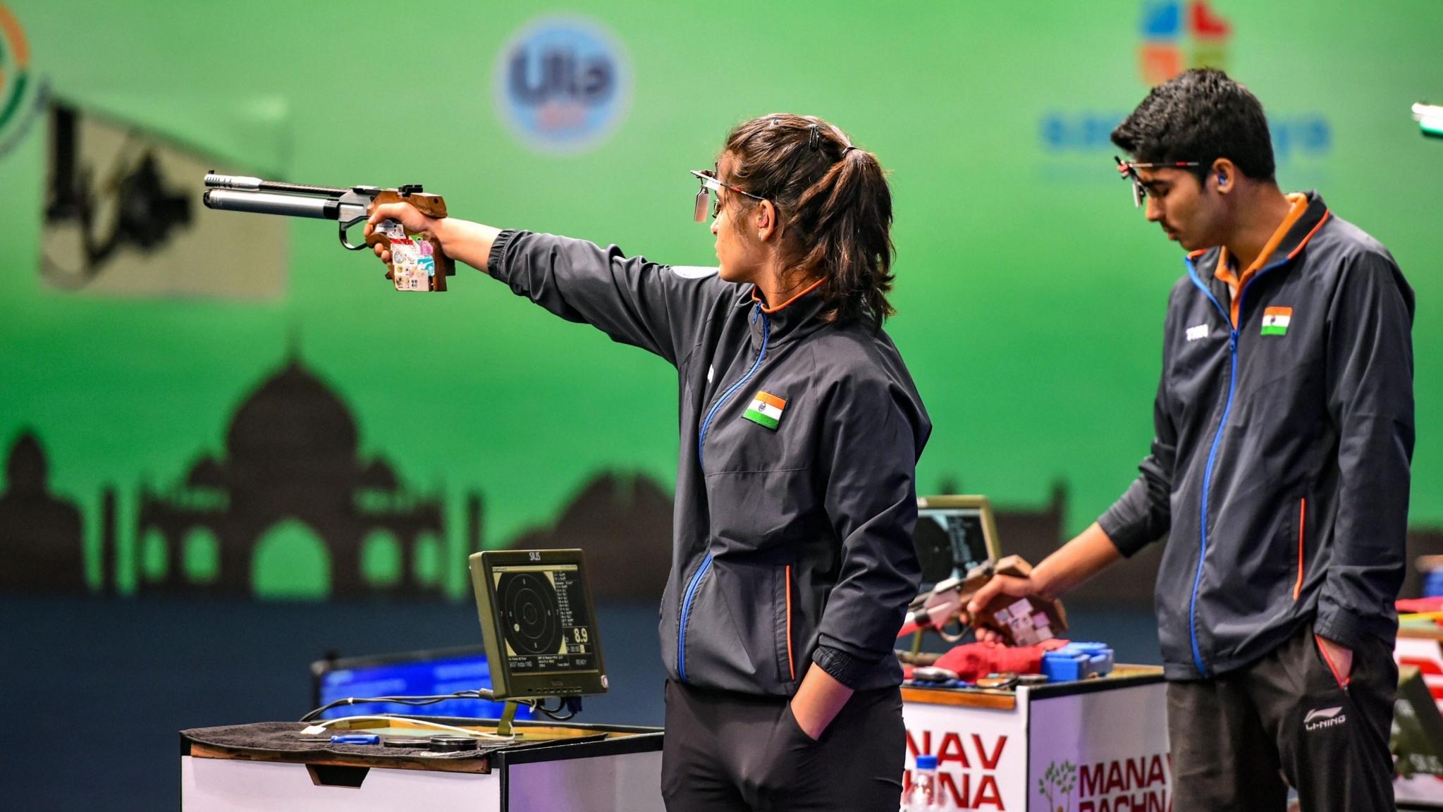Indian Teenagers Manu, Saurabh Win Gold at Shooting World Cup