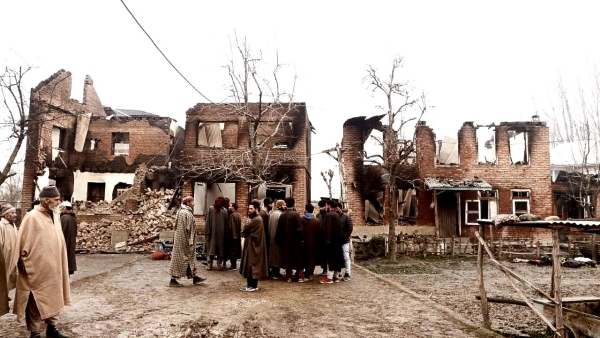 In the encounters between terrorists and the Army, hundreds of homes have been destroyed in South Kashmir.