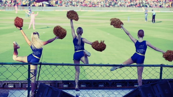 IPL cheerleaders at a recent match during IPL 2019.