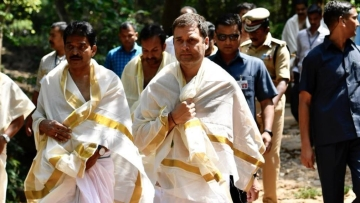 Rahul Gandhi offered prayers at Thirunelli Temple