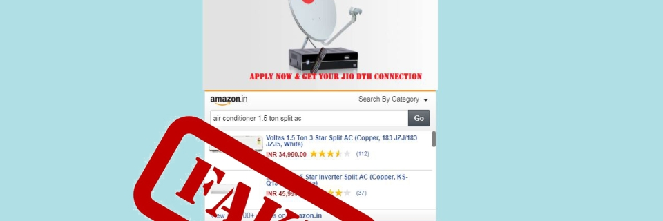 Reliance Jio Internet TV Pre-Booking Website is Fake