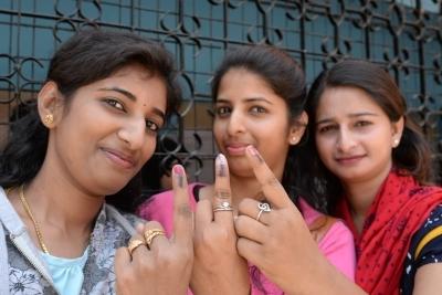 Record 67% voter turnout in Karnataka