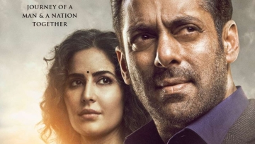 Salman Khan and Katrina Kaif in a new poster of <i>Bharat</i>.